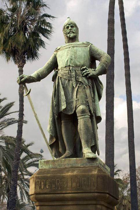 Monument a Roger de Lluria al Passeig Lluis Companys de Barcelona