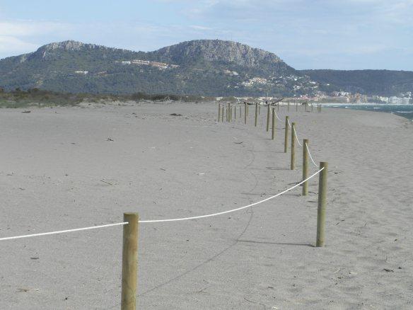 Zona de l'abalisament amb corda